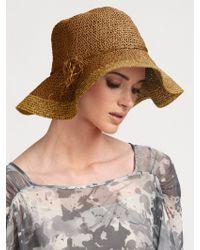 Armani - Packable Raffia Hat - Lyst