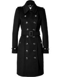 Burberry Wool Cashmere Duncannon Coat - Lyst