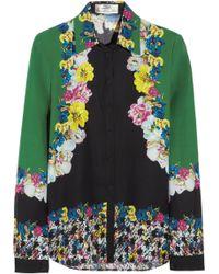 Erdem Cecilia Printed Silk Blouse multicolor - Lyst