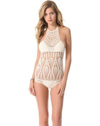 Lisa Maree Feathering Peacock Crochet Swimsuit - Lyst