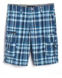 Calvin Klein Infinity Plaid Cotton Cargo Shorts - Lyst