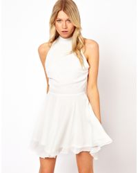 Love Skater Dress with High Neck - Natural