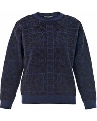 Alexander McQueen Stained-Glass Jacquard Sweatshirt - Lyst