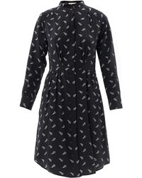 Boy by Band of Outsiders - Printed Silk Shirt Dress - Lyst