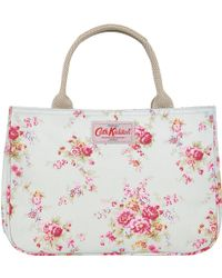 Cath Kidston - Washed Rose Print Cotton Small Tote Handbag - Lyst
