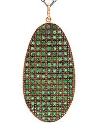 Ileana Makri Pink Gold Shield Necklace  - Lyst