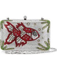 Sylvia Toledano - Miss Fish Swarovski Crystal Embellished Box Clutch - Lyst