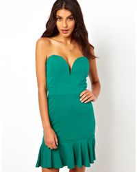 TFNC Dress With Plunge Neck - Lyst