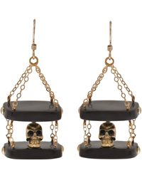 Clemmie Watson - Skull Drop Earrings - Lyst