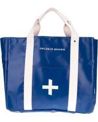 Orlebar Brown Stan Contrast Shopper - Blue