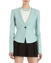 Icb One Button Peplum Back Suit Jacket