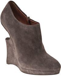 Alaïa - Suede Low Boots - Lyst