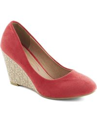 ModCloth Lets Do Lace Wedge - Lyst