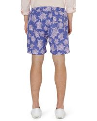 Pink House Mustique Midlength Printed Swim Shorts - Purple