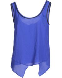 C'N'C Costume National Tops blue - Lyst