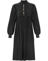 Giles Stud Button Shirt Dress - Lyst