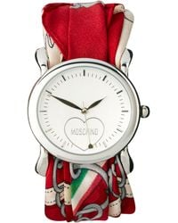 Moschino  Scarf Wrap Wrist Watch - Red