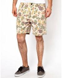 Pepe Jeans Pepe Camo Shorts - Natural
