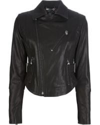 Philipp Plein Hell Rider Leather Jacket - Lyst