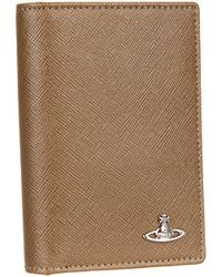Vivienne Westwood Saffiano New Vertical Credit Card Holder - Lyst