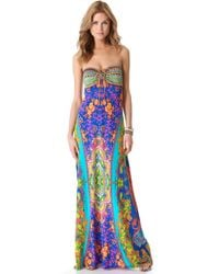 Camilla Drawstring Cover Up Maxi Dress - Lyst