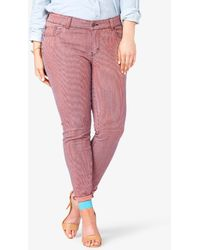Forever 21 Striped Skinny Jeans - Lyst