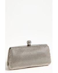Whiting & Davis 'Crystal' Mesh Clutch silver - Lyst