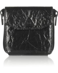 Alexander Wang Trigone Crinkled Laminated Leather Wallet - Lyst