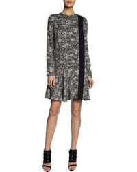 Proenza Schouler Long Sleeve Asymmetric Front Dress - Lyst