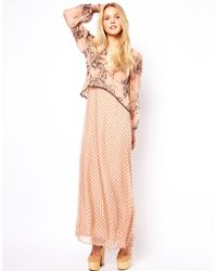 Traffic People Silk Printed Maxi Dress - Lyst