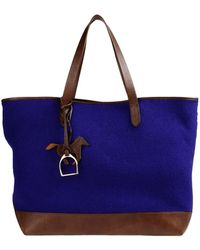 Ralph Lauren Collection Large Leather Bags - Purple