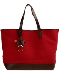 Ralph Lauren Collection Large Leather Bags - Red