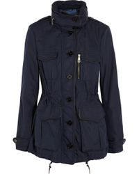 Burberry Brit - Leather Trimmed Shell Jacket - Lyst