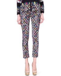 Erdem Melinda Checkprint Trousers - Lyst