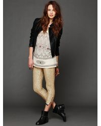 One Teaspoon Sequin Cropped Pant - Lyst
