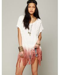 Free People Rough Rider Ombre Tee - Lyst