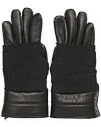 Balmain Nappa Leather and Grosgrain Gloves - Black