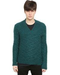 Balmain Wool and Mohair Knit Sweater - Green