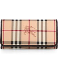 Burberry Penrose Check Continental Wallet - Lyst