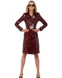 Burberry Prorsum Laminated Leather Trench Coat - Lyst