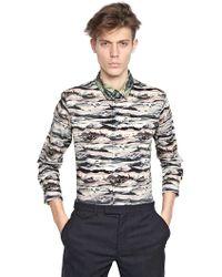 Carven Iceland Printed Cotton Poplin Shirt - Grey