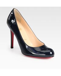 Christian Louboutin Simple 85 Patent Leather Pumps - Lyst