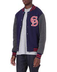 Criminal Damage Ace Varsity Jacket - Blue