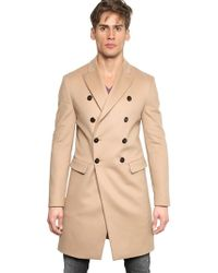 DSquared² Wool Cashmere Cloth Coat - Natural
