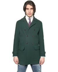 DSquared² Double Wool Double Breasted Trench - Green