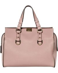 DSquared² Quebec Grained Leather Top Handle - Pink