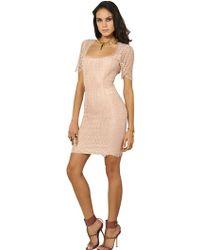 Emilio Pucci Stretch Viscose Lace Dress - Lyst