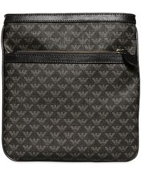 Emporio Armani Allover Plus Cross Body Bag - Grey