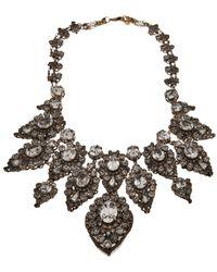 Erickson Beamon Large Antiqued Rhinestone Necklace - Lyst