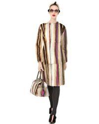 Fendi Mink Long Fur Coat - Lyst